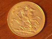 Full gold Sovereign Victoria 1900 graduated VF