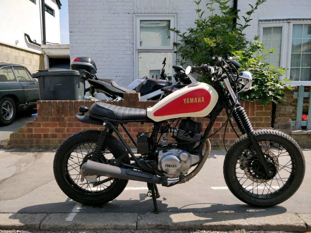 yamaha sr125 brat cafe racer 125cc in croydon london. Black Bedroom Furniture Sets. Home Design Ideas