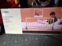 Mothercare wooden bed guard.