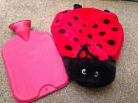 Ladybird hot water bottle cover