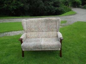 2 Seater Fireside Wingback Chair
