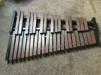 Wooden Xylophone and stand
