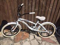 "West Coast Avigo girls or ladies bike 13.5"" quality steel frame, cruiser / chopper type bike vgc"