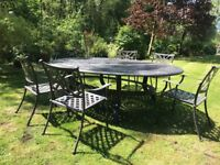Garden Furniture - Cast Iron Table and Chair set can seat up to 10 people