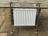 Gold / brass Victorian style towel rail radiator made by myson