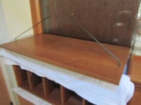 A wonderful mid-century two bay teak PS shelf/cupboard unit system (alternative to Ladderax)