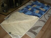 merino sheeps wool single sleeping bags never been used which zip together to make a double