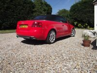 Eye catching Red Audi A4 2.0 tfsi petrol Convertible S Line