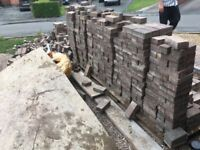 Block pavers, used, generally in good condition. Approx 2600 blocks.
