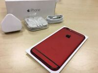 Boxed Red / Black Apple iPhone 6 64GB Factory Unlocked Mobile Phone + Warranty