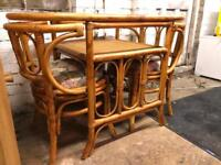 Wicker bistro set of small space compact dining table and chair