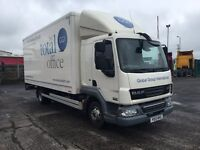 **Sleeper Cab** 2013 (May) DAF FALF 160 Sleeper Cab, 20ft box and tail lift (not MAN, Iveco, Merc)