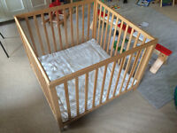 BabyDan playpen and mat - as new condition