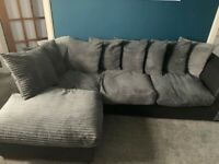 Left corner sofa black/grey