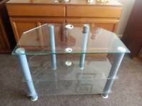 Free to collecter a 3 tier glass TV unit.