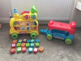 Vtech Learning train ride on: great condition,never used outside, only on brand new carpet