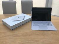 "Microsoft 13.5"" Surface Book and Leather Bag - i7, Nvidia graphics, 8gb ram, 256 ssd, Windows 10"