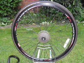 Carrera Road Bike Rear Wheel + Parts