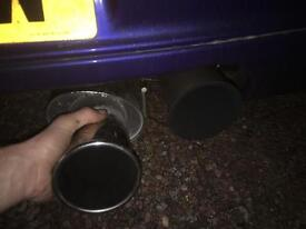 Ford Fiesta mk4-5 zetec s cat back stainless exhaust