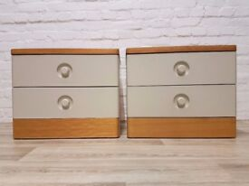 Pair Of Stag Nocturne Bedside Cabinets (DELIVERY AVAILABLE)