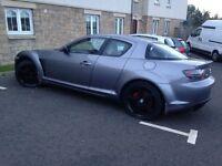 Cheap sports car-Mazda rx-8 gun metal grey 2.6 litre Mazda body kit and custom brake callipers.