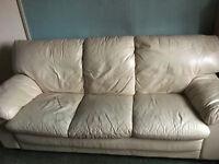 Last Chance To Nab This Before Its Off To The Tip -Free Three Seater Cream Sofa Collection Only