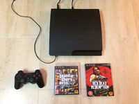 Sony PS3 Playstation 3 (149GB) in excellent condition + GTA 5 & Red Dead Redemption for sale