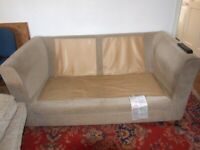 settee sofa 2 to 3 seated good condition single persons home ,