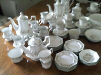 COLLECTION OF ETERNAL BEAU COFFEE POTS/TEAPOTS/PLATES/CUPS/SAUCERS ETC