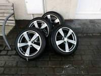 "Audi style ,set of 4 17"" alloys"