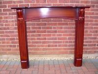 Wood effect gas fire surround