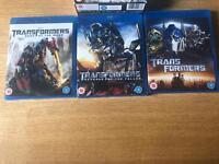TRANSFORMERS BLU RAY BOX SET