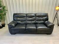 Next - Ex Show-home Black leather sofa FREE DELIVERY
