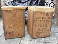 2 x Tea Chests, Clean & Dry. Ideal for storage. £10 each or 2 for £18