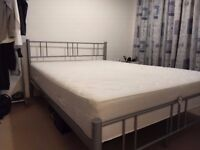 Double Bed with comfy Ikea Sultan Mattress