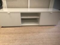 IKEA White BYAS TV Bench / Stand