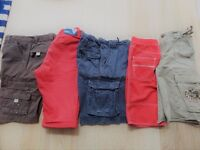 5 pairs boys long shorts/cargo shorts age 9-11 Mini Boden,John Lewis,H&M,Next, Gap. all cotton