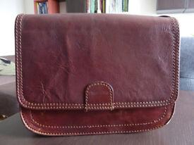 Large Italian purse on sale - Real leather!
