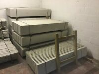 Concrete base panels, gravel boards