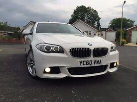 2010 60 BMW 525D M SPORT WHITE DIESEL HIGH SPEC LOW MILEAGE