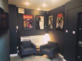Office for rent in creative film studio