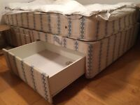 IKEA DOUBLE SIZE BED WITH PULL OUT STORAGE