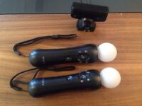PlayStation motion move controllers x2 ps4