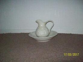 White Jug And Bowl