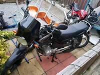 Yamaha ybr 125 57 plate full bike breaking