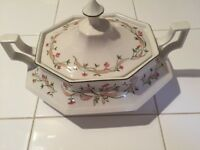 "Eternal Beau Lidded Serving Tureen 9"" X 7.5"" X 4"" Ht Has Small Damage To Knob On Lid"