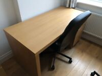 2 barely used IKEA work desks and 2 desk chairs. Singularly available also.