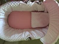 Moses basket, 3 months old. Used couple of times.