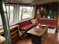 BARGAIN Wide beam boat house boat live aboard barge 61 feet by 10-5 feet project