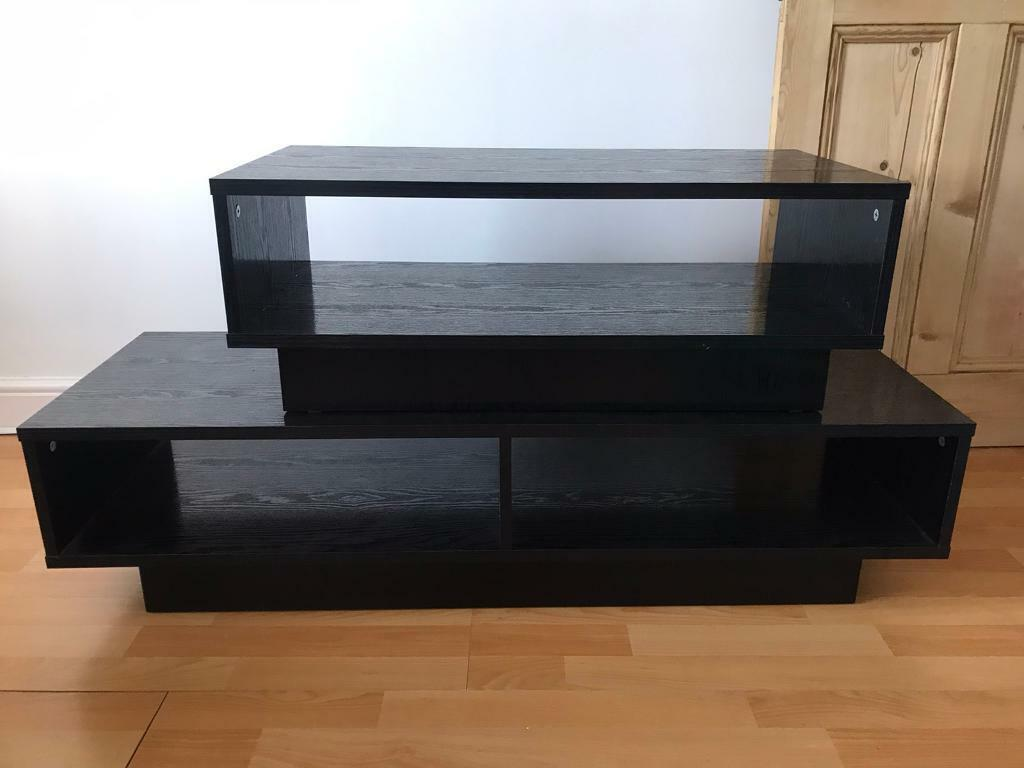Argos Cube Black Tv Unit And Coffee Table In Kettering